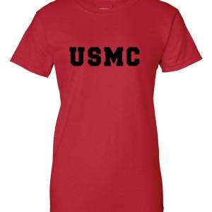 USMC - Marine Corps, Red, Women's Cut T-Shirt
