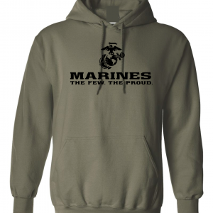 USMC World - Marines, Army Green-Black, Hoodie
