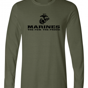 USMC World - Marines, Army Green-Black, Long-Sleeved