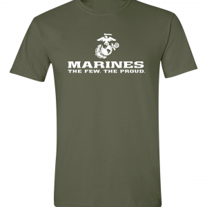 USMC World - Marines, Army Green/White, T-Shirt