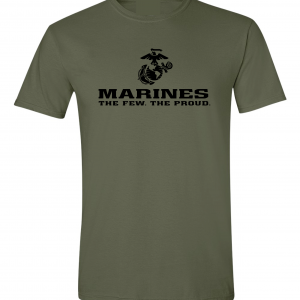 USMC World - Marines, Army Green-Black, T-Shirt