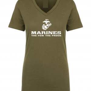 USMC World - Marines, Army Green-White, Women's Cut T-Shirt