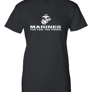 USMC World - Marines, Black/White, Women's Cut T-Shirt