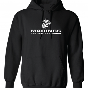 USMC World - Marines, Black/White, Hoodie