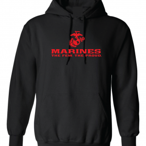 USMC World - Marines, Black/Red, Hoodie