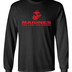 USMC World - Marines, Black/Red, Long-Sleeved
