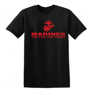USMC World - Marines, Black/Red, T-Shirt
