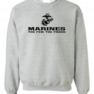 USMC World - Marines, Grey, Crew Sweatshirt