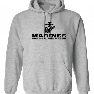 USMC World - Marines, Grey, Hoodie