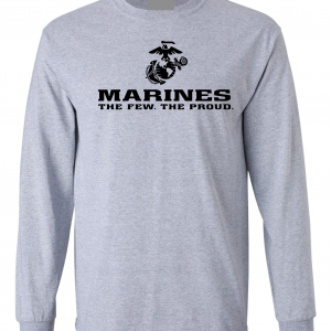 USMC World - Marines, Grey, Long-Sleeved