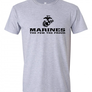 USMC World - Marines, Grey, T-Shirt