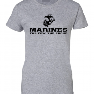 USMC World - Marines, Grey, Women's Cut T-Shirt