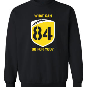 What Can Brown 84 Do for You - Antonio Brown, Black, Crew Sweatshirt