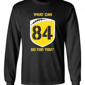 What Can Brown 84 Do for You - Antonio Brown, Black, Long-Sleeved