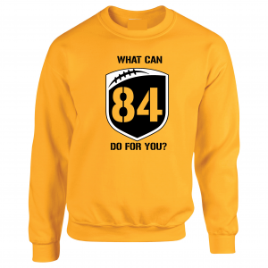 What Can Brown 84 Do for You - Antonio Brown, Yellow, Crew Sweatshirt