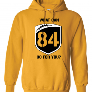 What Can Brown 84 Do for You - Antonio Brown, Yellow, Hoodie