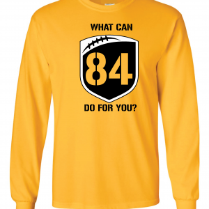 What Can Brown 84 Do for You - Antonio Brown, Yellow, Long-Sleeved