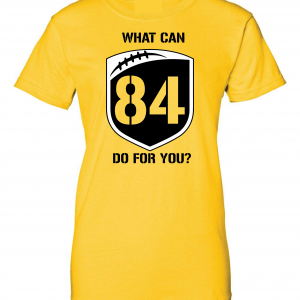 What Can Brown 84 Do for You - Antonio Brown, Yellow, Women's Cut T-Shirt