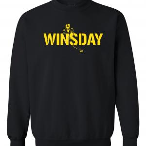 WInsday - Le'Veon Bell, Black, Crew Sweatshirt