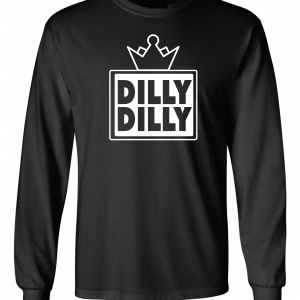Dilly Dilly Crown, Black, Long-Sleeved