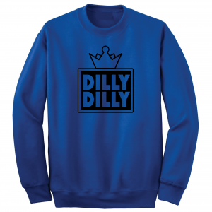 Dilly Dilly Crown, Royal/Black, Crew Sweatshirt