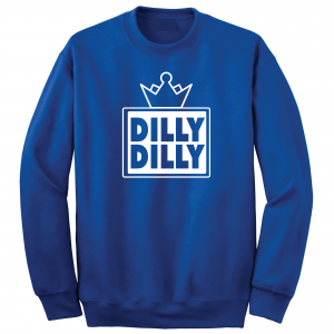 Dilly Dilly Crown, Royal/White, Crew Sweatshirt