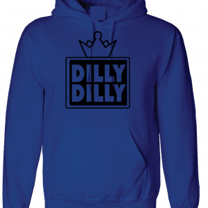 Dilly Dilly Crown, Royal/Black, Hoodie