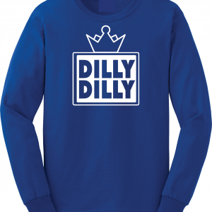 Dilly Dilly Crown, Royal/Black, Long-Sleeved
