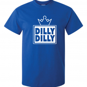 Dilly Dilly Crown, Royal/Black, T-Shirt