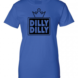 Dilly Dilly Crown, Royal/Black, Women's Cut T-Shirt