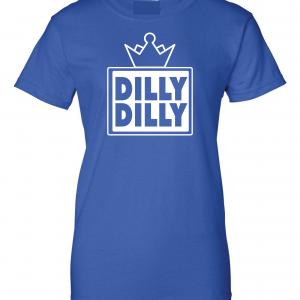 Dilly Dilly Crown, Royal/White, Women's Cut Sweatshirt