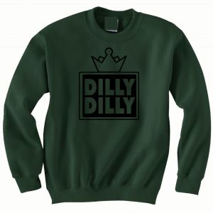 Dilly Dilly Crown, Forrest/Black, Crew Sweatshirt