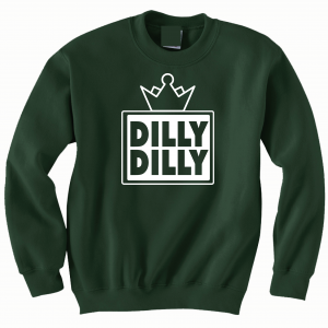 Dilly Dilly Crown, Forest/White, Crew Sweatshirt