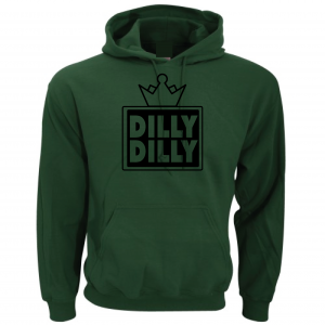 Dilly Dilly Crown, Forrest/Black, Hoodie