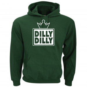 Dilly Dilly Crown, Forrest/White, Hoodie