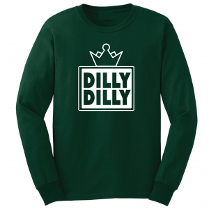 Dilly Dilly Crown, Forrest/White, Long-Sleeved