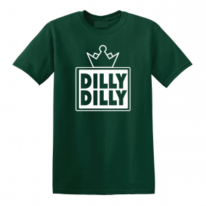 Dilly Dilly Crown, Forrest/White, T-Shirt