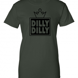 Dilly Dilly Crown, Forrest/Black, Women's Cut T-Shirt