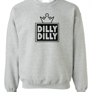 Dilly Dilly Crown, Grey/Black, Crew Sweatshirt