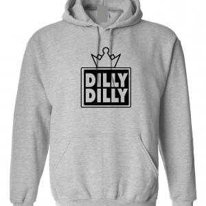 Dilly Dilly Crown, Grey/Black, Hoodie