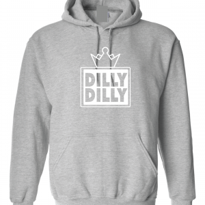 Dilly Dilly Crown, Grey/White, Hoodie