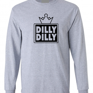 Dilly Dilly Crown, Grey/Black, Long-Sleeved