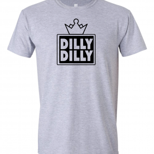 Dilly Dilly Crown, Grey/Black, T-Shirt
