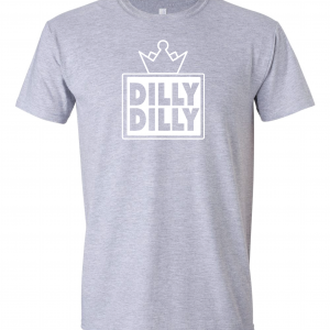 Dilly Dilly Crown, Grey/White, Long-Sleeved