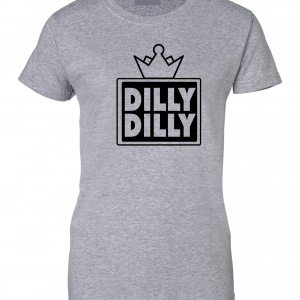 Dilly Dilly Crown, Grey/Black, Women's Cut T-Shirt