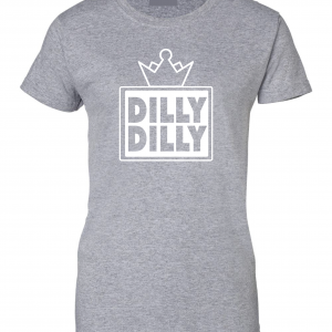 Dilly Dilly Crown, Grey/White, Women's Cut T-Shirt