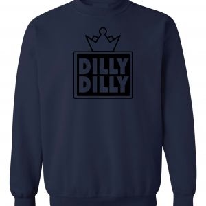 Dilly Dilly Crown, Navy/Black, Crew Sweatshirt