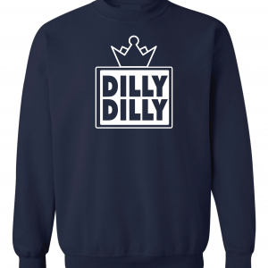 Dilly Dilly Crown, Navy/White, Crew Sweatshirt