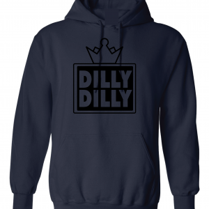 Dilly Dilly Crown, Navy/Black, Hoodie
