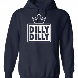 Dilly Dilly Crown, Navy/White, Hoodie